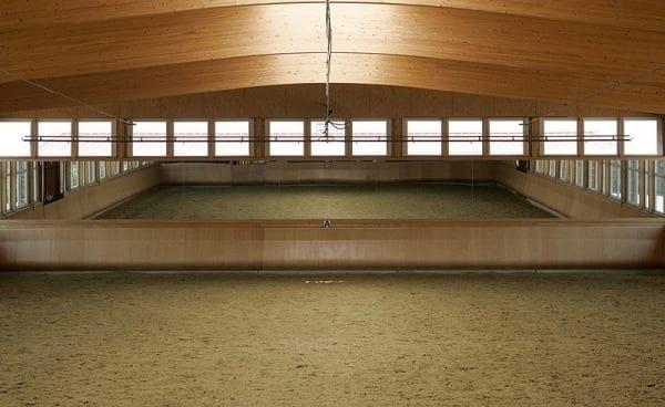 Arena mirrors in indoor