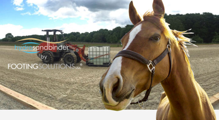 Hydro SandBinder Offers Dust Control for Horse Arenas