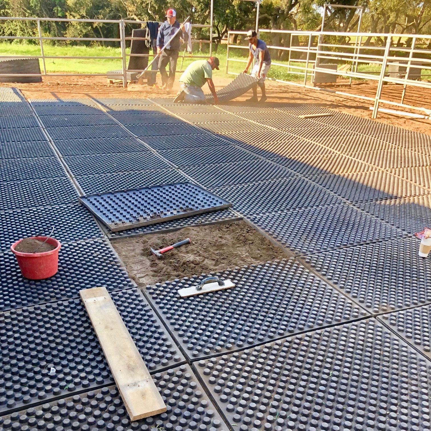 paddock mats installation