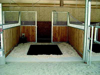 SoftBed stall mats are a cleaner alternative to traditional bedding.