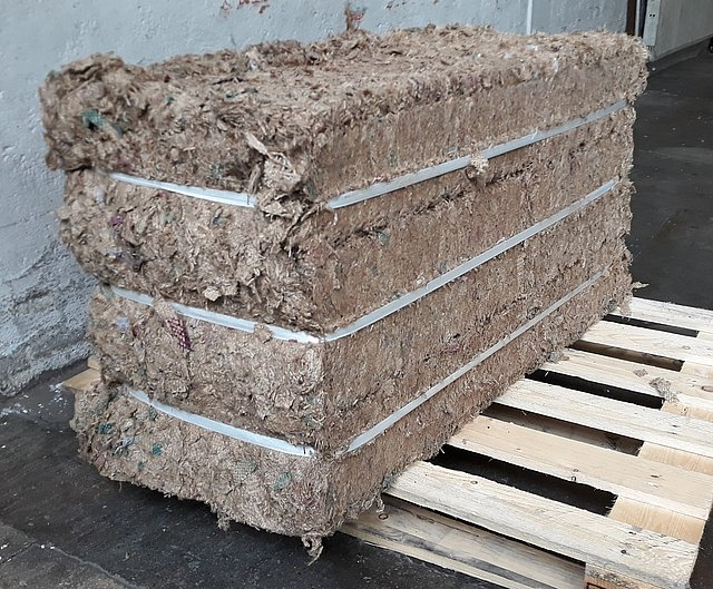 bale of fsgeotex natural jute